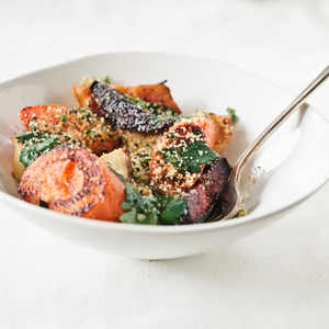 Roasted Root Vegetable Salad with Herbed Breadcrumbs