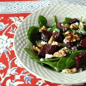 Spinach Salad with Beets and Walnuts Recipe