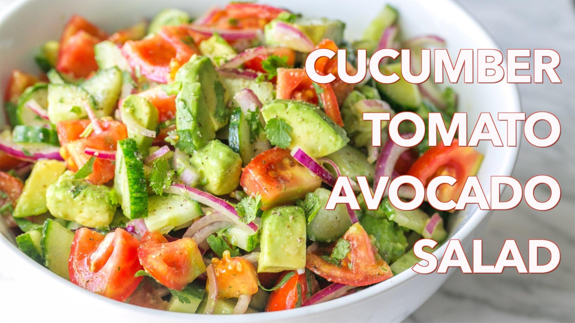 Salads: Cucumber Tomato Avocado Salad Recipe – Natasha's Kitchen