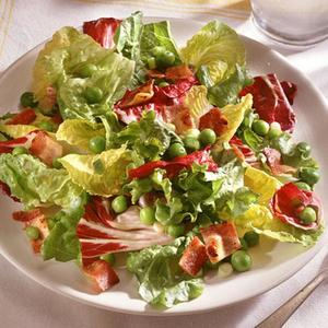 Wilted Greens With Warm Bacon Dressing