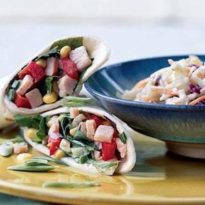 Turkey-Vegetable Wraps