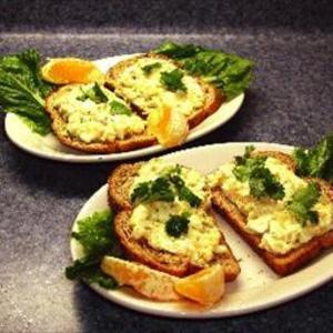 Egg and Shrimp Salad Sandwiches