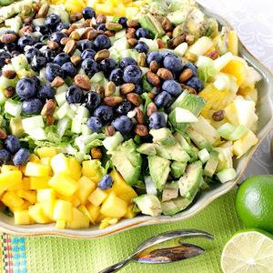 Heart Healthy Avocado Mango Salad with Lime Poppy Seed Vinaigrette recipes