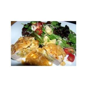 Savory Stuffed Chicken Breasts With Artichoke and Herb Salad