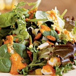Catalonian Salad with Greens and Romesco Vinaigrette (Xato) recipes