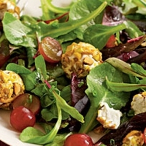 Spring Salad with Grapes and Pistachio-Crusted Goat Cheese recipes