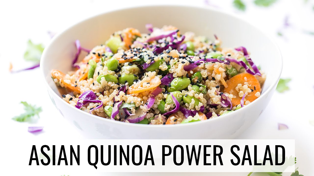 ASIAN QUINOA POWER SALAD | healthy lunch recipe | #SALADWEEK