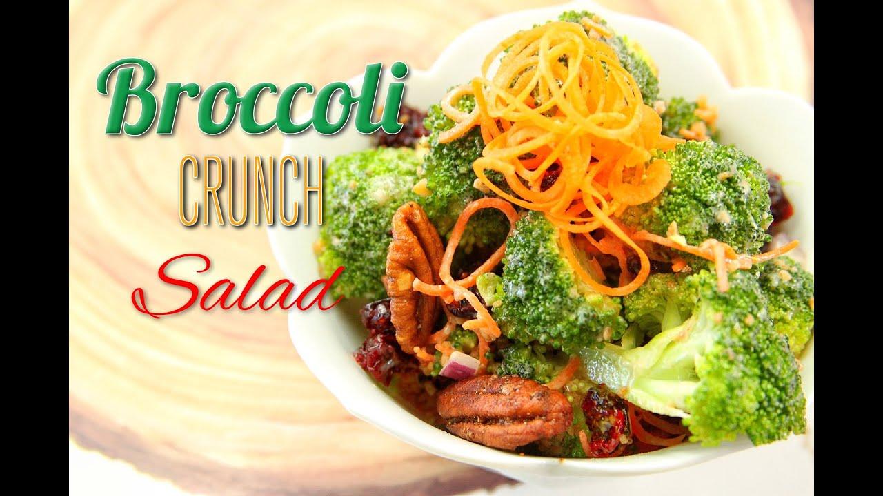 Broccoli Crunch Salad Recipe :: Vegan