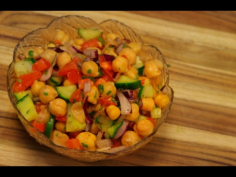 Chickpea salad – healthy recipe channel – garbanzo beans – vegan protein – vegetarian recipe