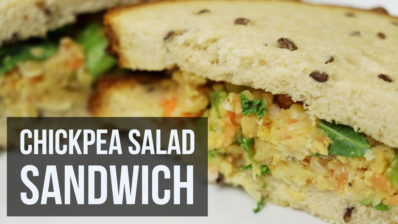 Chickpea Salad Sandwich | Healthy Vegan Lunch Recipe by Forkly