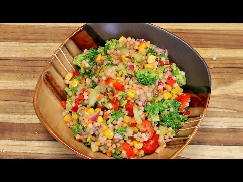 Couscous Salad Recipe  – cooking channel – budget vegan – best quick food recipes – tasty food ideas