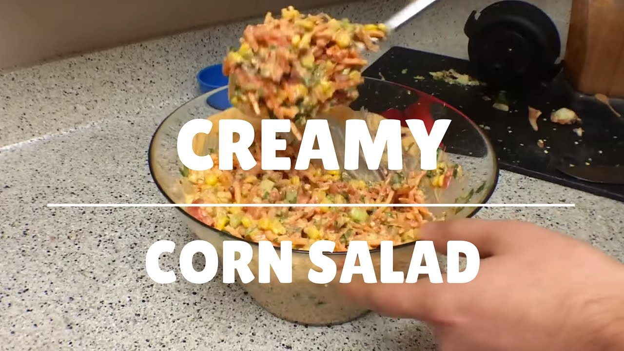 CREAMY CORN SALAD | THE RAW BOY RAW VEGAN RECIPES
