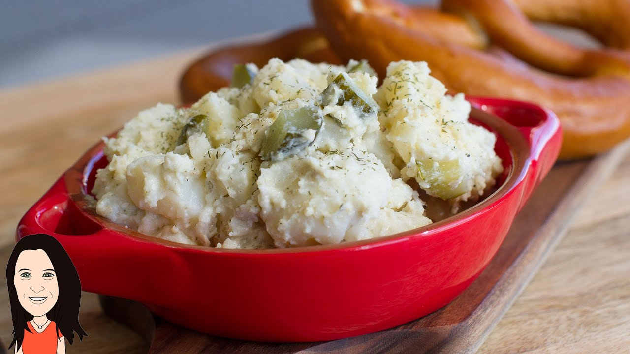 Creamy German Potato Salad Recipe – (No Egg, no dairy, no oil)!