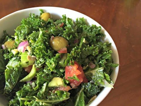 Easy & Delicious Kale Salad Recipe | Brown Vegan