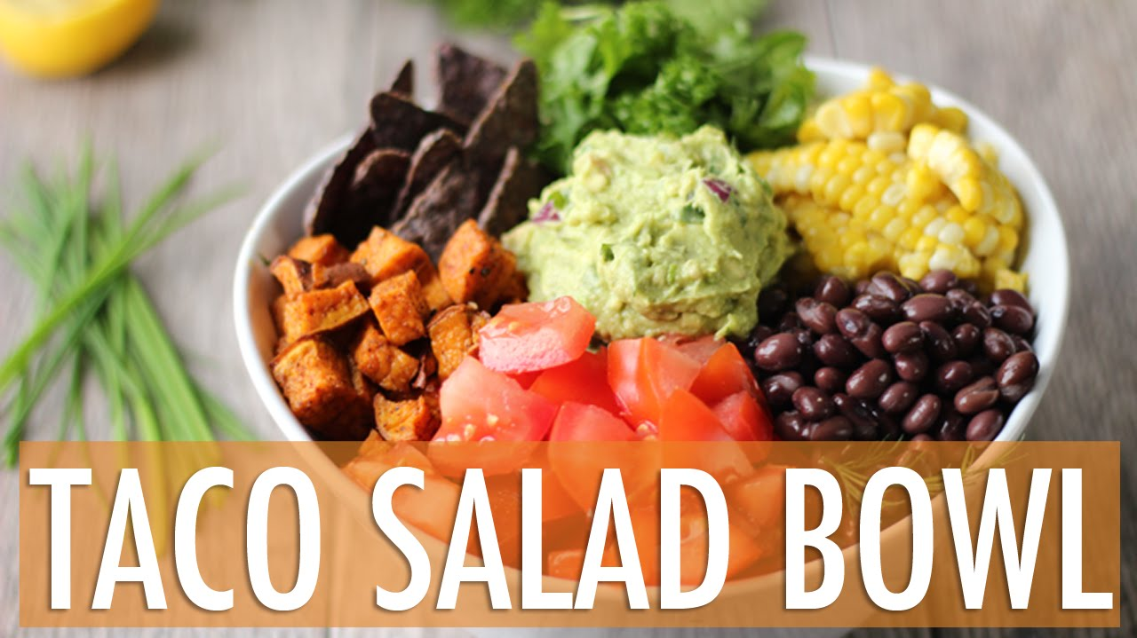 HEALTHY TACO SALAD BOWL | Vegan & Gluten Free