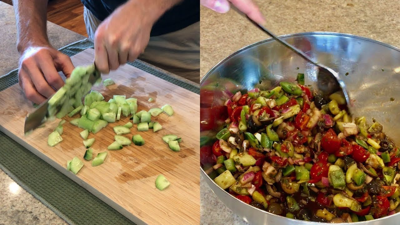 Healthy Vegan Recipes – OIL FREE VEGGIE SALAD