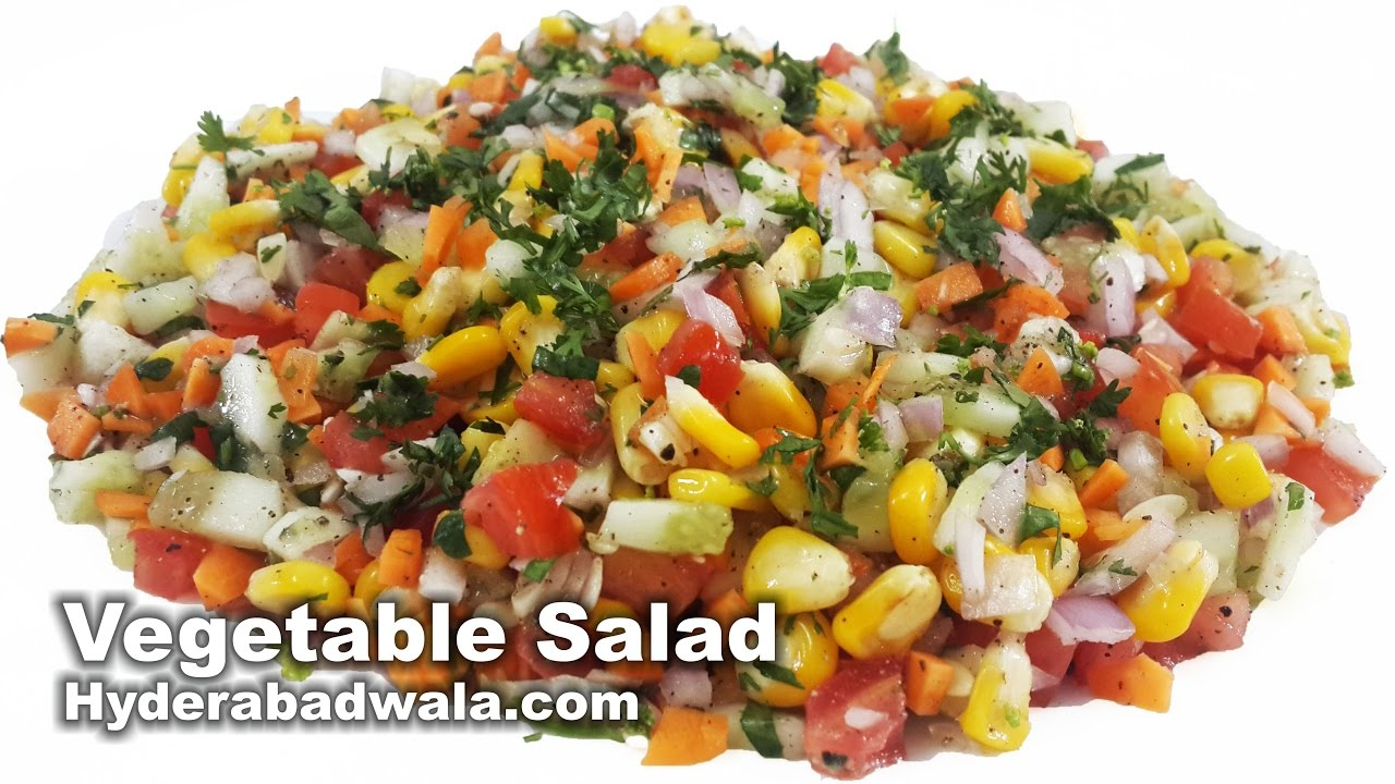 Healthy Vegetable Salad Recipe Video – How to Make Healthy Vegetable Salad at Home – Easy & Simple