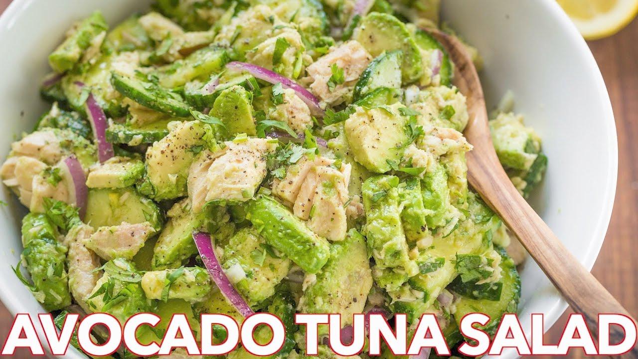 Salads Avocado Tuna Salad Recipe Natasha S Kitchen Easy