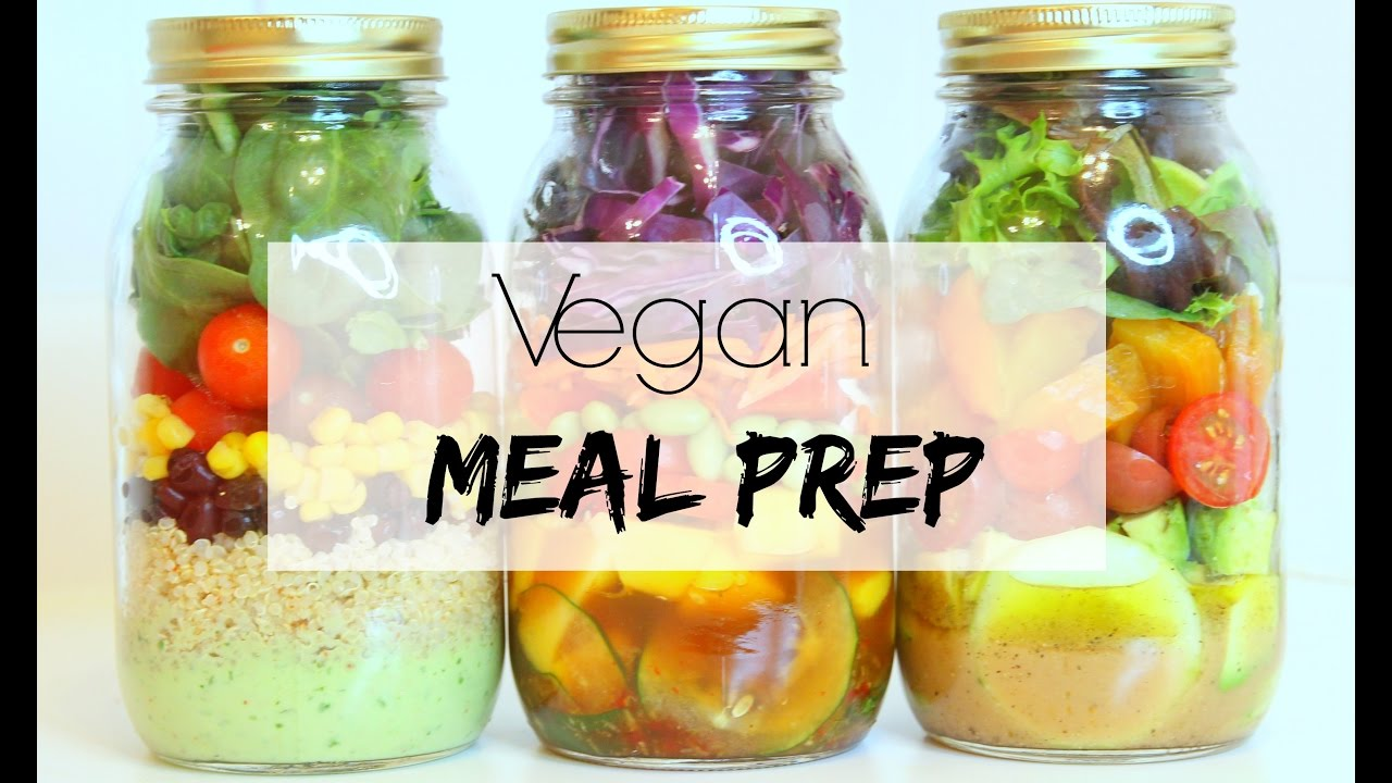 VEGAN MEAL PREP | 3 Mason Jar Salads (Easy & Healthy)