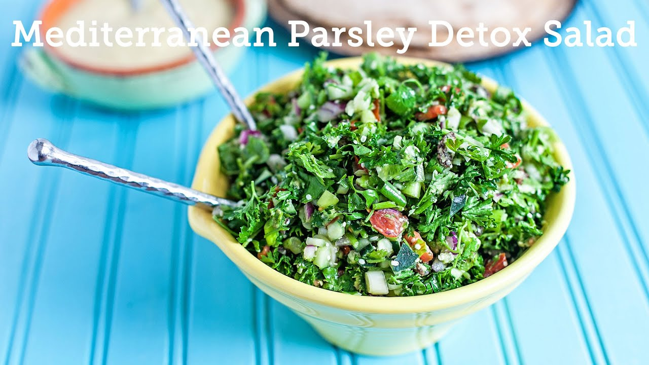 Vegan Mediterranean Detox Parsley Salad