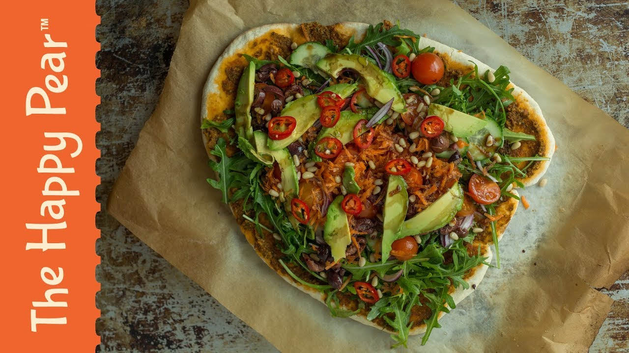 VEGAN SALAD PIZZA | THE HAPPY PEAR