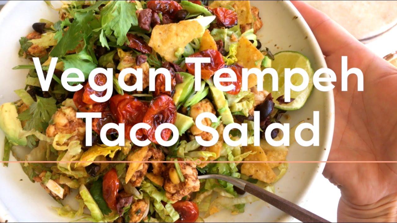 VEGAN Tempeh Taco Salad