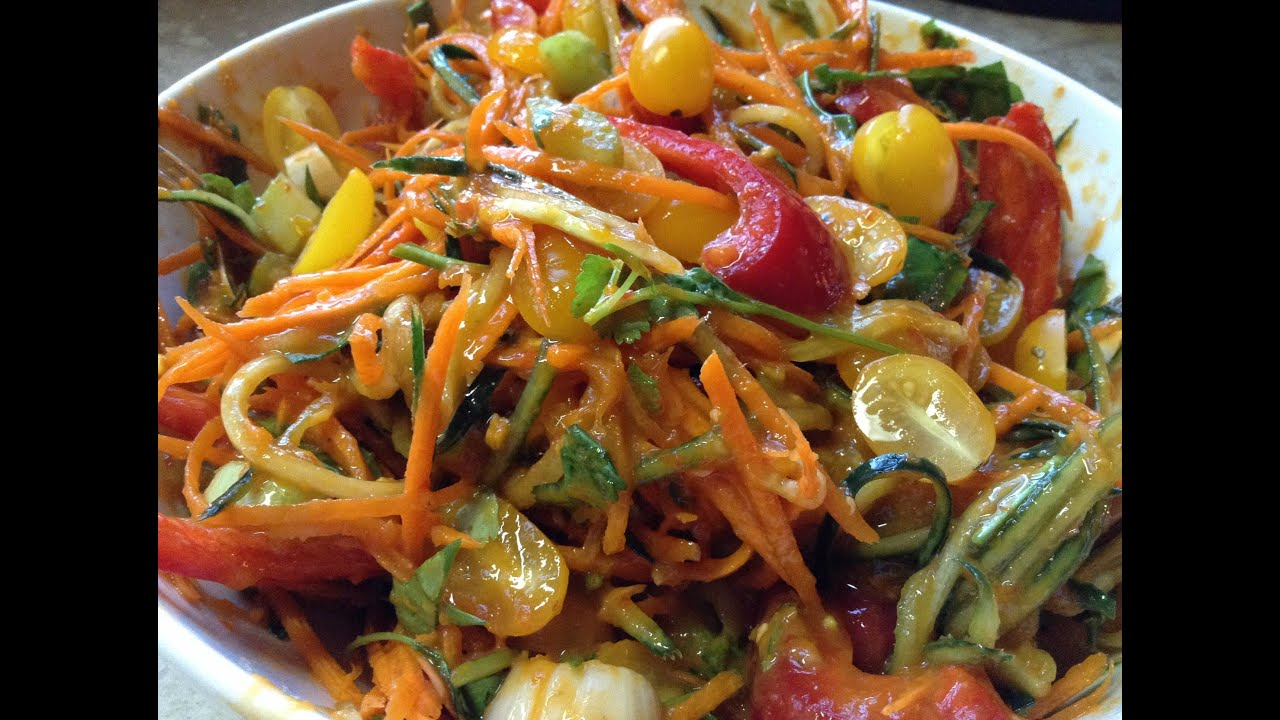 15 Minute Raw Meals Ep. 2: Asian Veggie Noodle Salad