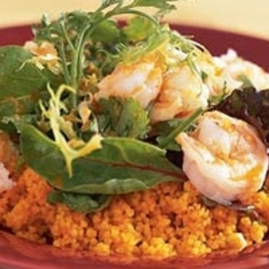 Ginger Shrimp with Carrot Couscous recipes