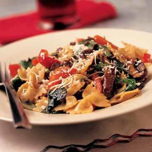 Warm Bow-Tie Pasta Salad