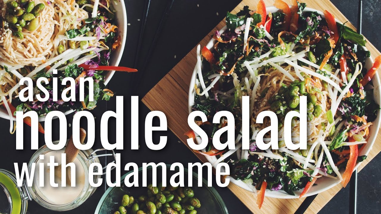 ASIAN NOODLE SALAD WITH EDAMAME | hot for food