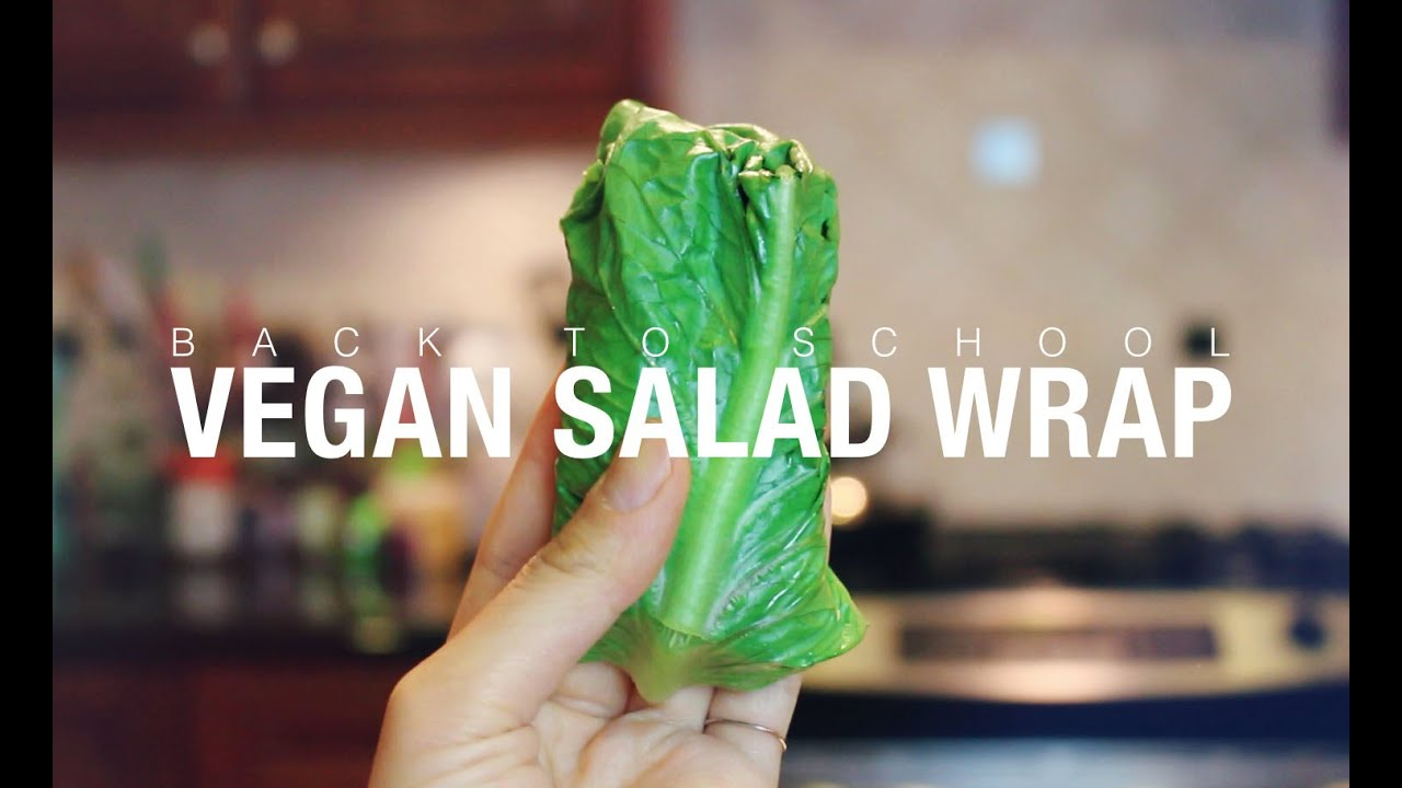 Back 2 School VEGAN Salad Wrap