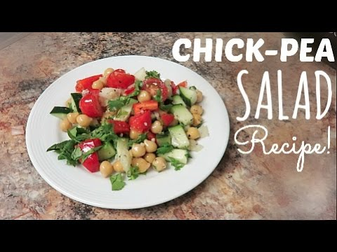 CHICKPEA SALAD RECIPE!