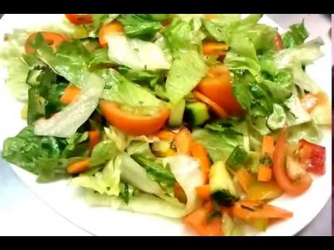 Green Salad Recipe  Indian healthy tasty lunch -Indian Restaurant Cooking