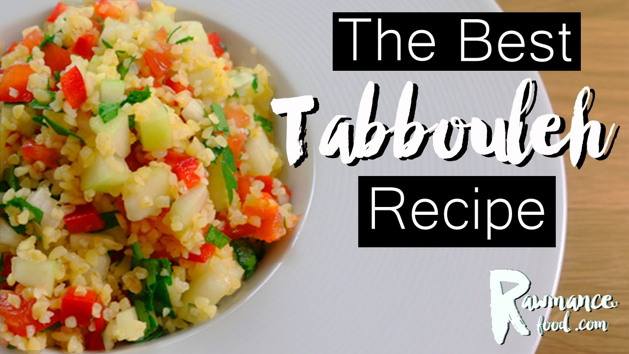 HEALTHY TABBOULEH SALAD RECIPE (Vegan)| Incredible Lebanon Cuisine Recipe | W/ Organic Bulgur Wheat