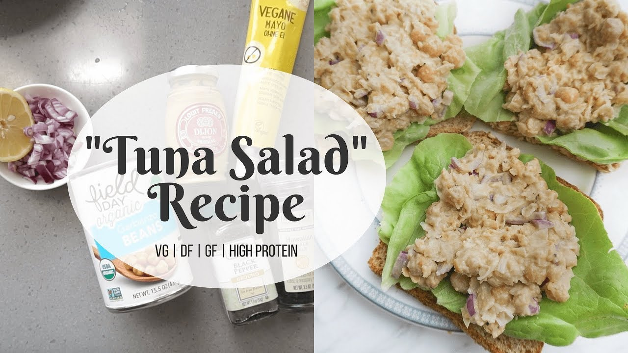 "HIGH PROTEIN ""TUNA"" SALAD RECIPE 