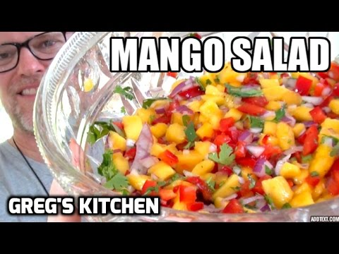 HOW TO MAKE A MANGO SALSA / SALAD – Vegan Paleo Recipe – Greg's Kitchen