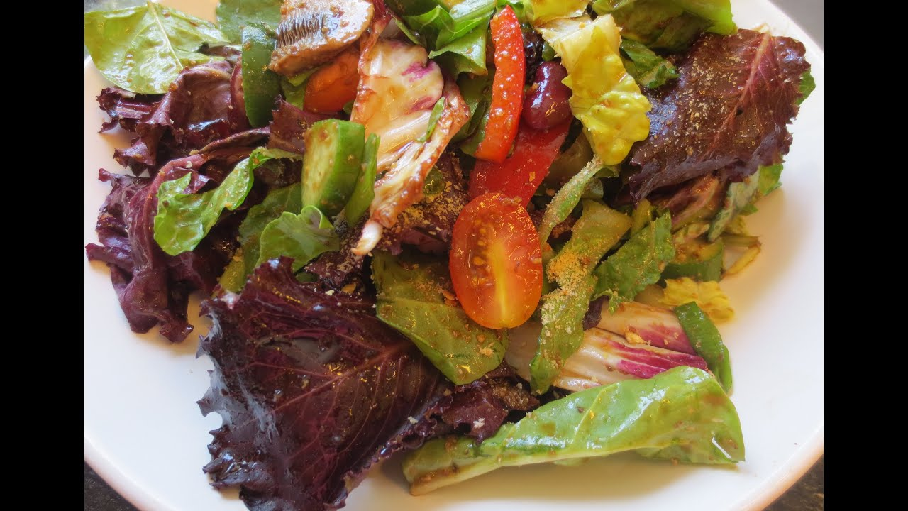 Low Fat Vegan No Oil Healthy Green Salad EASY