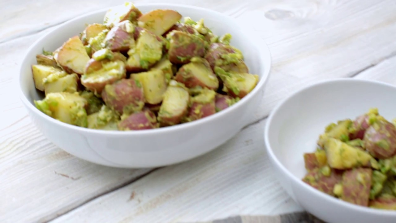 Potato Salad with Avocado and Dill: Plant-Based Vegan Recipe