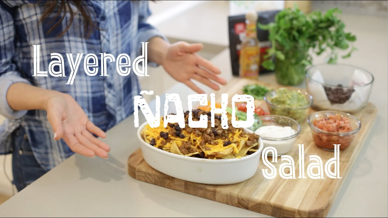 Quick & Easy Vegan Recipes with Daniella Monet // Layered Nacho Salad