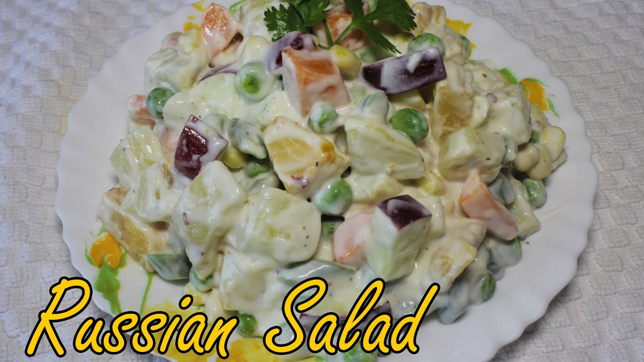 Russian Salad Recipe | Vegetarian Salad Recipes | Yummy Russian Salad | Kanak's Kitchen