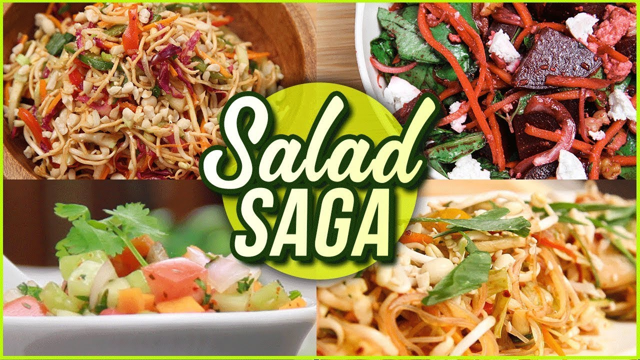Salad Recipes for Weightloss – 5 BEST Salad Recipes – Vegetable & Fruit Salads by Ruchi