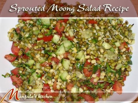 Sprouted Moong Salad Recipe by Manjula