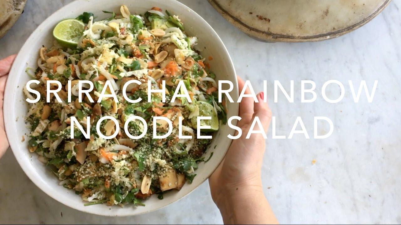 Sriracha Rainbow Noodle Salad (VEGAN)