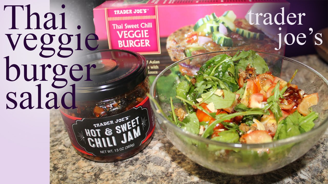 Trader Joe's Cooked Veggie Burger Salad Recipe | Review 2016