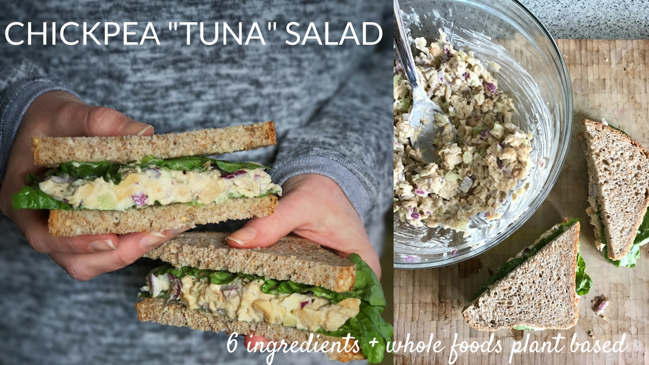 VEGAN CHICKPEA TUNA SALAD | 6 Ingredient Healthy Lunch Recipe!