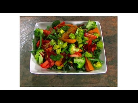 Vegetarian Cooking Class Steamed Vegetable Salad
