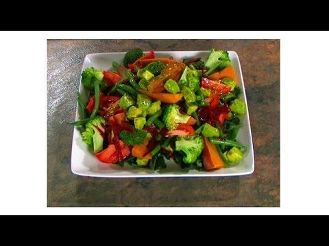 Vegetarian Cooking Class Steamed Vegetable Salad