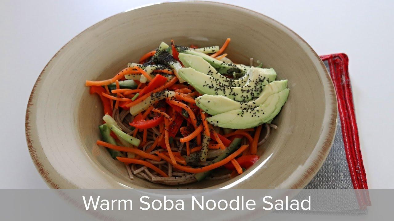 Warm Soba Noodle Salad Recipe (with simple vegan dashi)