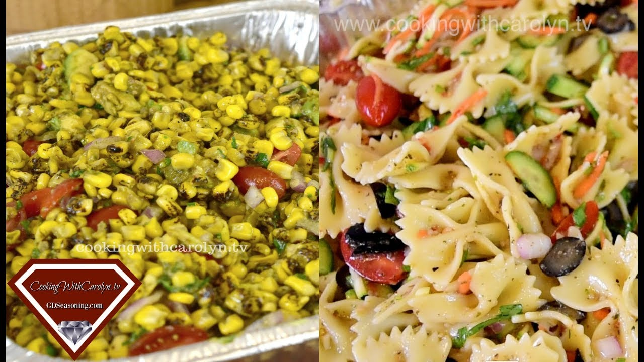 "WATCH ME Make Bow Tie Pasta and Veggie Salad & Roasted Corn Salad for a CROWD|""Shut Up & Cook"" Night"