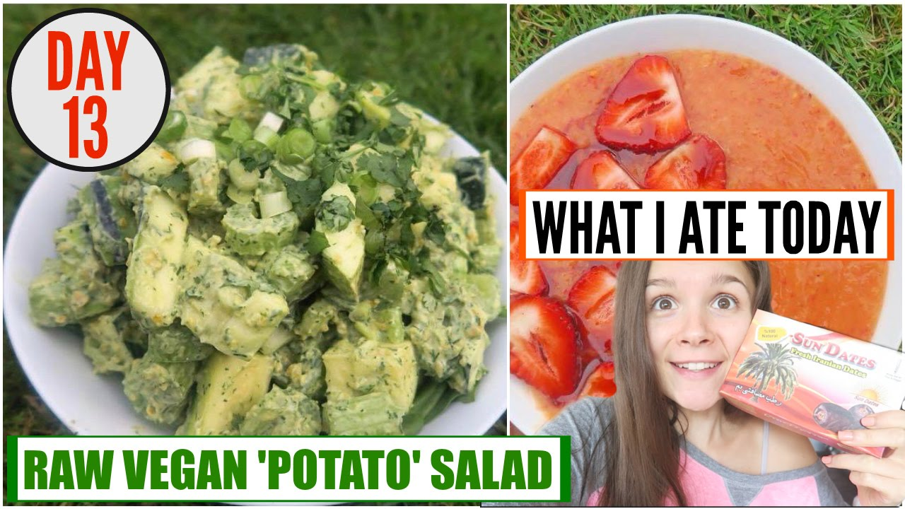WHAT I ATE TODAY [VEGAN] + RAW VEGAN 'POTATO' SALAD RECIPE (#APRILEATS DAY 13)
